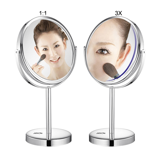 Circular Shape Double Sided Cosmetic Mirror Image 1
