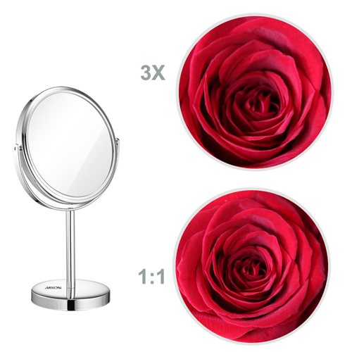 Circular Shape Double Sided Cosmetic Mirror Image 2