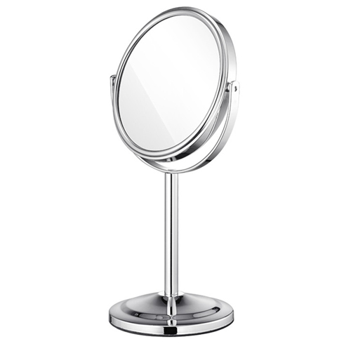 Circular Shape Double Sided Cosmetic Mirror Image 4