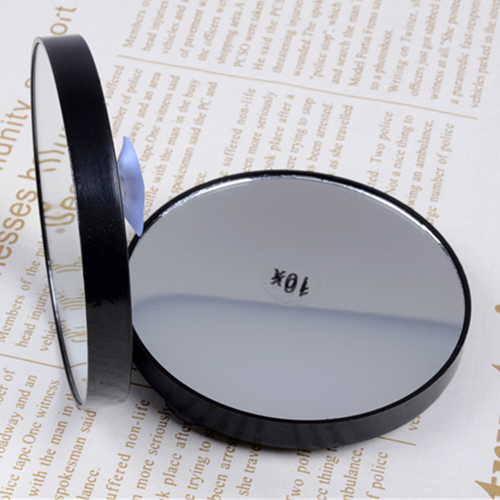 Round Shape Mini Mirror with Two Sucker Image 1