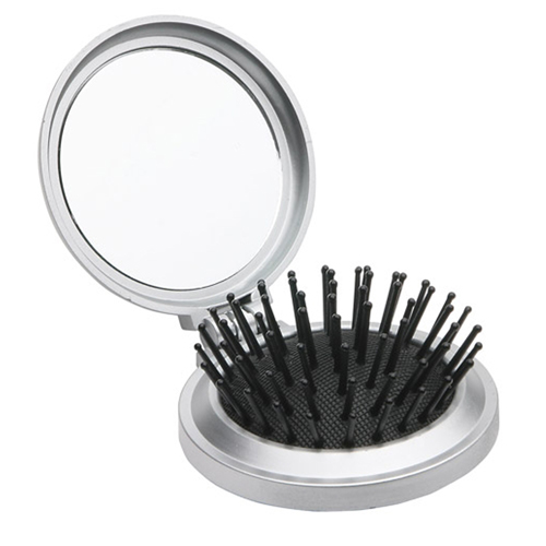 Round Shape Travel Disk Brush and Mirror Image 2