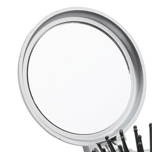 Round Shape Travel Disk Brush and Mirror Image 4