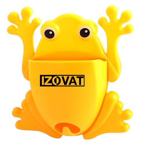 Frog Shaped Toothbrush Holder With Suction Cup
