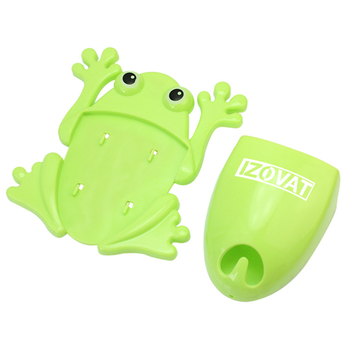 Frog Shaped Toothbrush Holder With Suction Cup Image 1