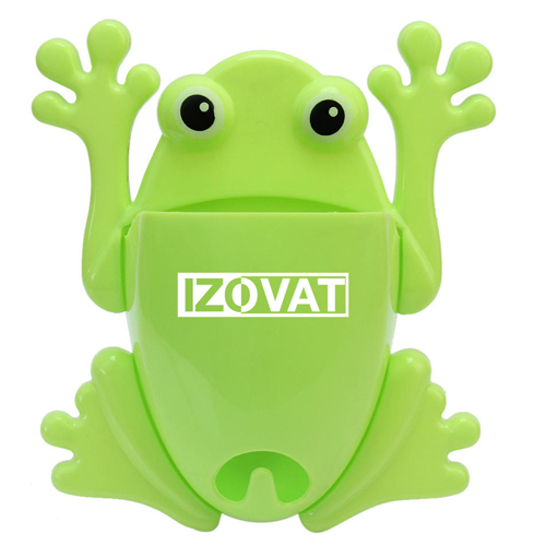 Frog Shaped Toothbrush Holder With Suction Cup Image 2