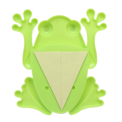 Frog Shaped Toothbrush Holder With Suction Cup Image 3
