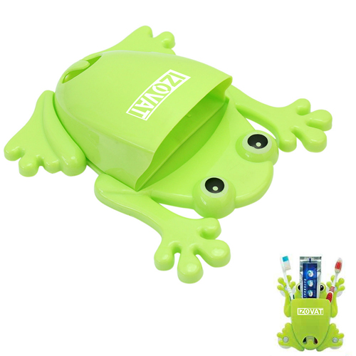 Frog Shaped Toothbrush Holder With Suction Cup Image 4