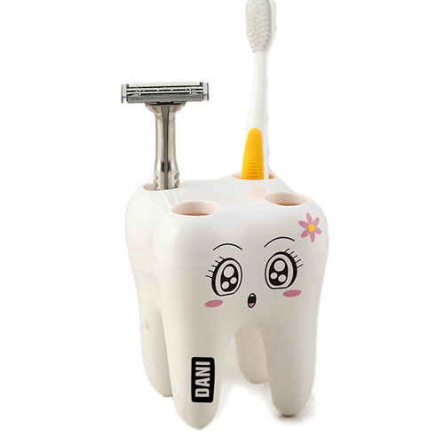 Tooth Shaped 4 Toothbrush Holder