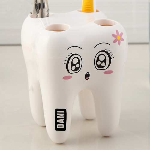 Tooth Shaped 4 Toothbrush Holder Image 1