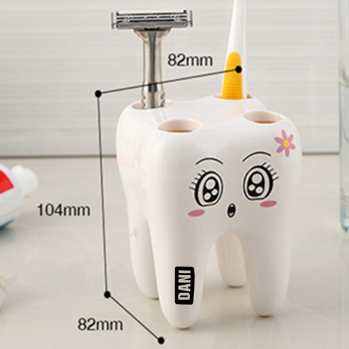 Tooth Shaped 4 Toothbrush Holder Image 2