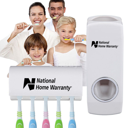 Wall Mount Toothbrush Rack and Automatic Toothpaste Dispenser