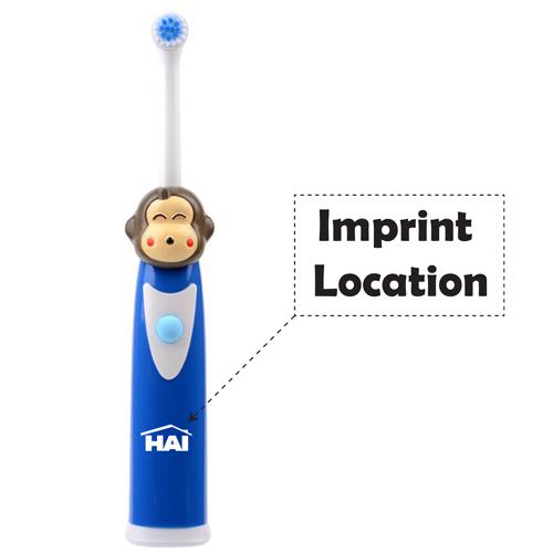 Cartoon Pattern Oral Electric Toothbrush Imprint Image