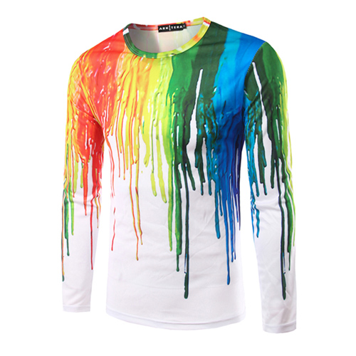 Long Sleeve 3D Casual Ink Shirt