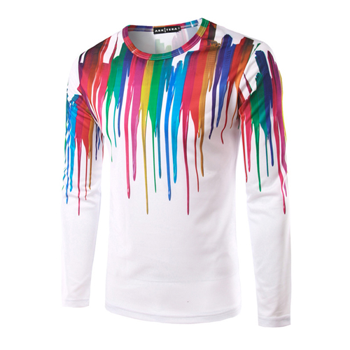 Long Sleeve 3D Casual Ink Shirt Image 5