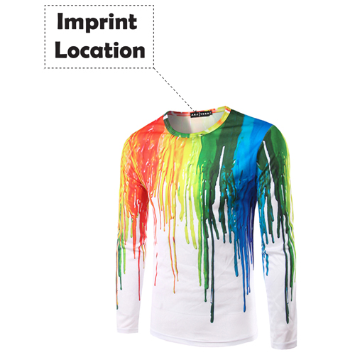 Long Sleeve 3D Casual Ink Shirt Imprint Image
