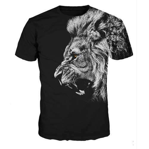Short Sleeve 3D Printing Mens T Shirts Image 9