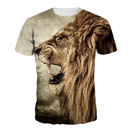 Short Sleeve 3D Printing Mens T Shirts Image 2