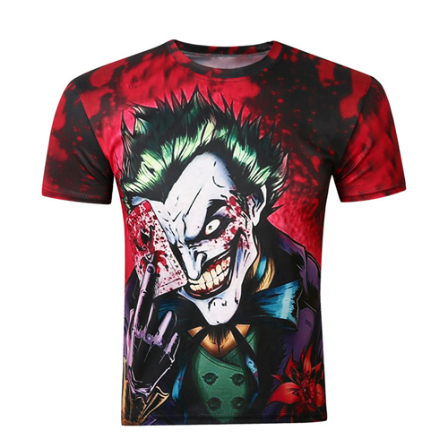 Short Sleeve 3D Printing Mens T Shirts Image 4