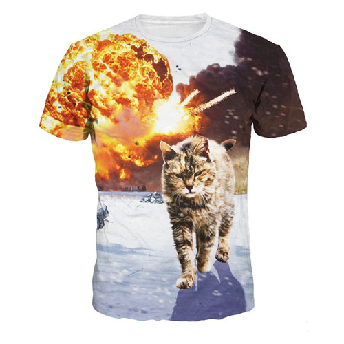 Short Sleeve 3D Printing Mens T Shirts Image 7