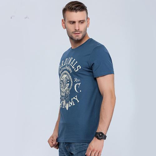 Short Sleeve Mens Cotton T Shirt Image 1
