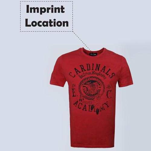 Short Sleeve Mens Cotton T Shirt Imprint Image