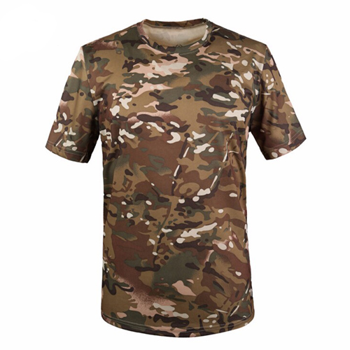 Quick Dry Mens Camouflage T Shirt