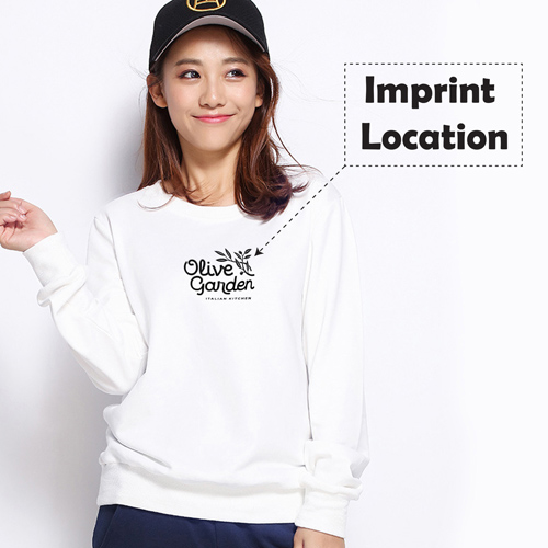 Long Sleeve Female Pullover Imprint Image