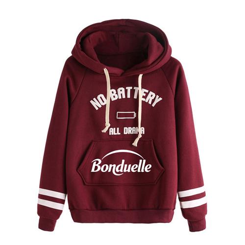 Casual Drawstring Hoodie Sweatshirt