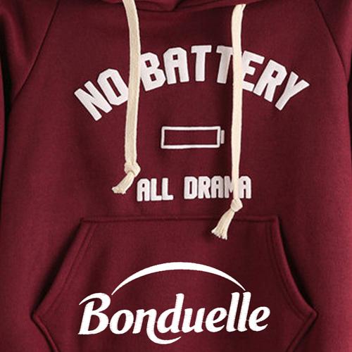 Casual Drawstring Hoodie Sweatshirt Image 2