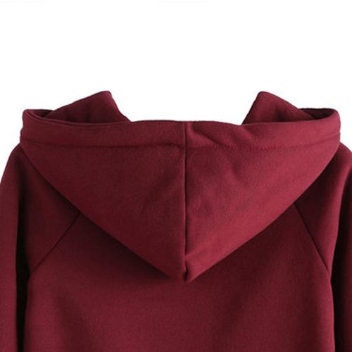 Casual Drawstring Hoodie Sweatshirt Image 4
