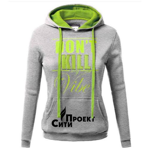 Front Pocket Hooded Long Sleeve Sweatshirt Image 5