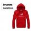 Fleece Hip Hop Sportswear Hoodie Imprint Image
