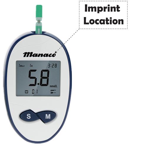 Blood Glucose Diabetic Test Meter Imprint Image
