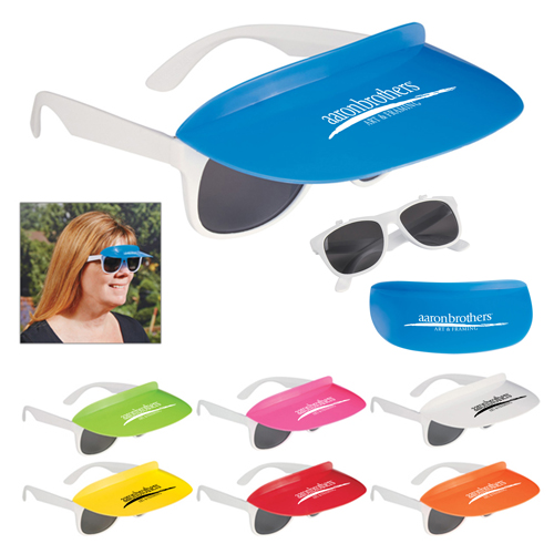 Custom Two Tone Visor Sunglasses