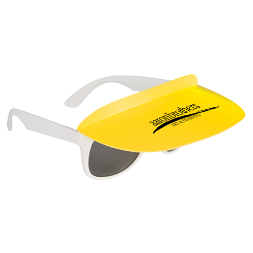 Custom Two Tone Visor Sunglasses Image 2