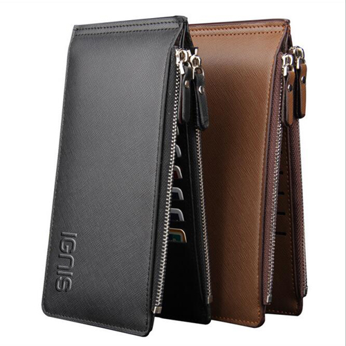 Ultra-Thin Double Zipper Men Wallet