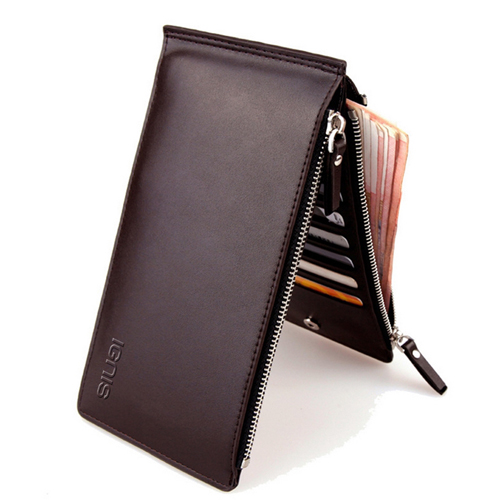 Ultra-Thin Double Zipper Men Wallet Image 5