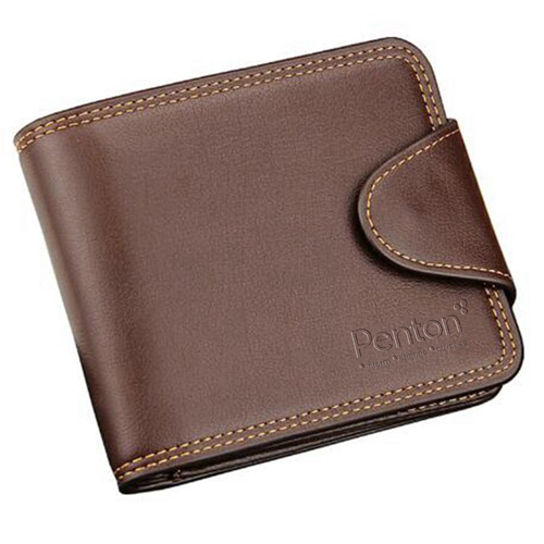 Mens Zipper Hasp Coin Pocket Wallet