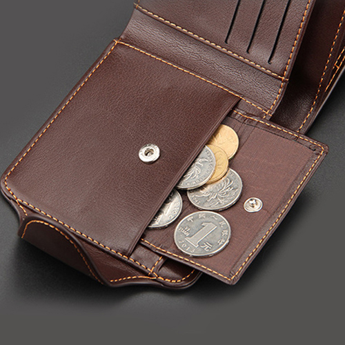Mens Zipper Hasp Coin Pocket Wallet Image 1
