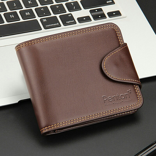 Mens Zipper Hasp Coin Pocket Wallet Image 2