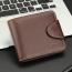 Mens Zipper Hasp Coin Pocket Wallet