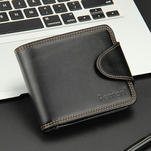 Mens Zipper Hasp Coin Pocket Wallet Image 3