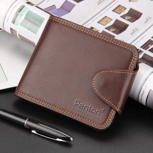 Mens Zipper Hasp Coin Pocket Wallet Image 5