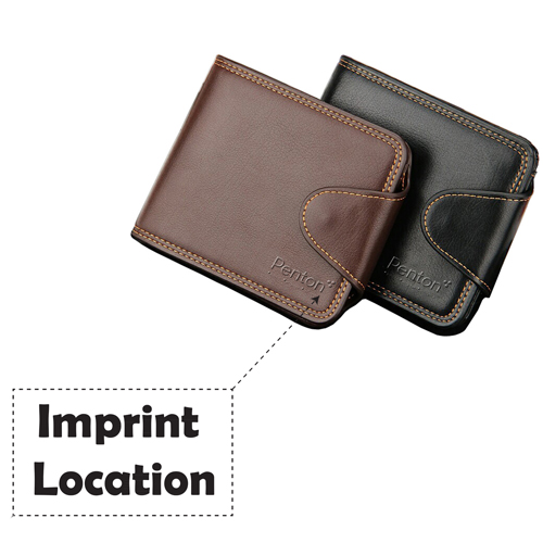 Mens Zipper Hasp Coin Pocket Wallet Imprint Image