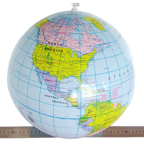 Inflatable Round Globe Beach Ball Image 1