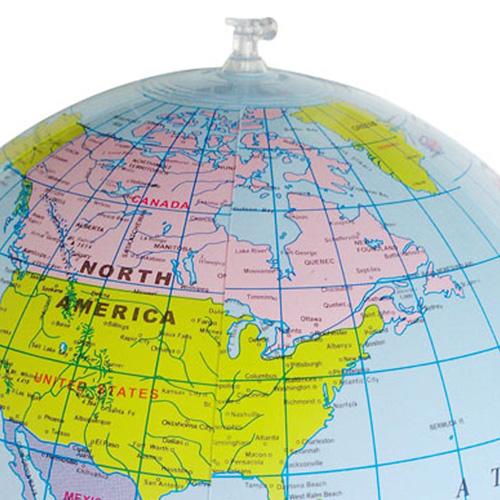 Inflatable Round Globe Beach Ball Image 3