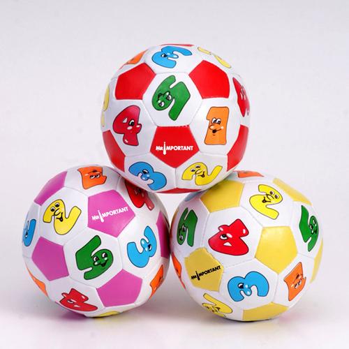 Educational Children Cartoon Soccer Beach Ball Image 1