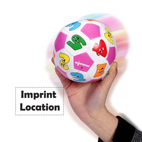Educational Children Cartoon Soccer Beach Ball Imprint Image