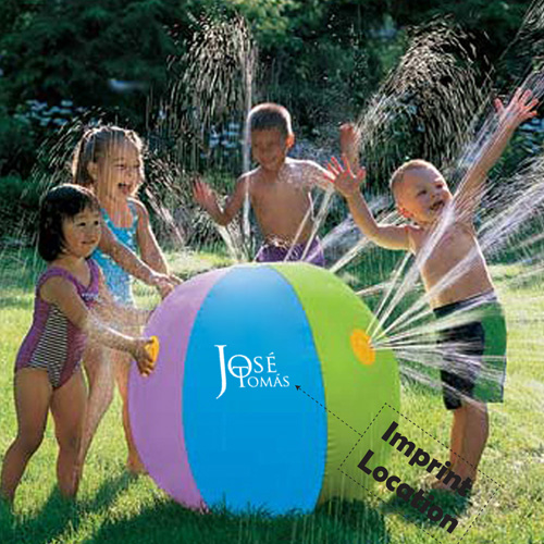 Inflatable Fountain Childrens Sprinkler Beach Ball Imprint Image