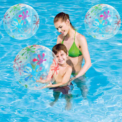 Inflatable Transparent Printed Kids and Adult Beach Ball Image 4